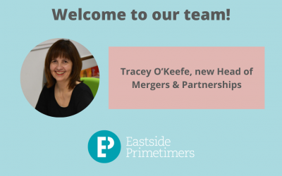 Tracey O'Keefe joining Eastside Primetimers central team as mergers director